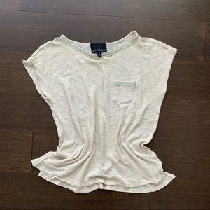 CYNTHIA ROWLEY linen top